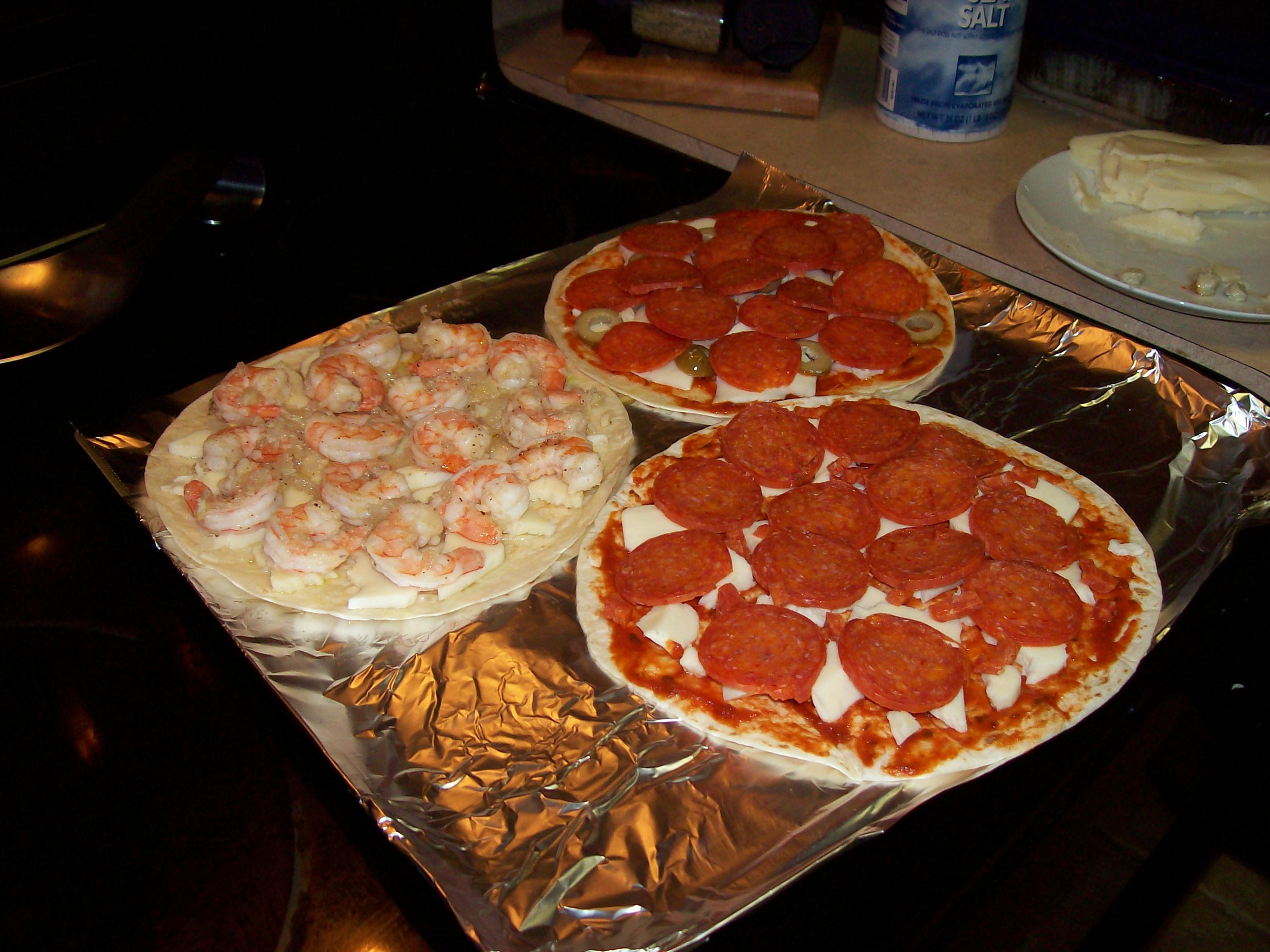 Tortilla Pizzas Recipe — Dishmaps